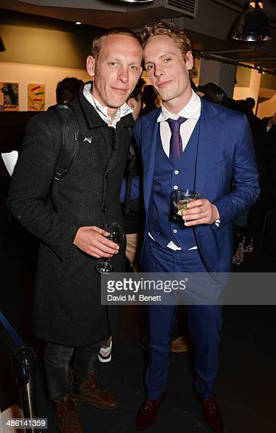 Laurence Fox and Jack Fox attend the press night performance of 'Dorian Gray' at the Riverside Studios on April 22 2014 in London England