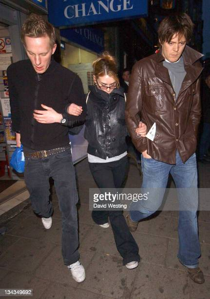 Laurence Fox Billie Piper and Kris Marshall during 'Treats' West End Press Night Departures at Garrick Theatre in London Great Britain