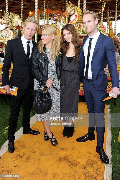 Laurence Fox Billie Piper Lily James and Jack Fox attend the Veuve Clicquot Gold Cup Final at Cowdray Park Polo Club on July 15 2012 in Midhurst...