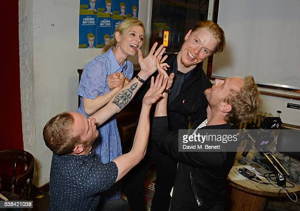 Laurence Fox Emilia Fox Freddie Fox and Jack Fox attend the press night after party for 'A Midsummer Night's Dream' at Southwark Playhouse on June 6...