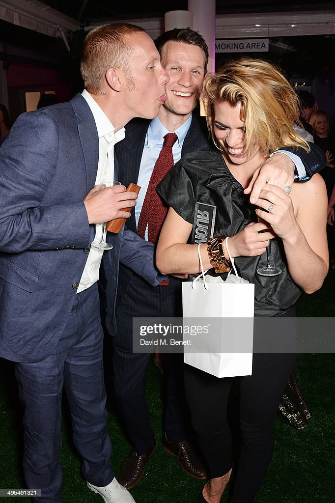 Laurence Fox, <a gi-track='captionPersonalityLinkClicked' href=/galleries/search?phrase=Matt+Smith+-+Actor&family=editorial&specificpeople=6877373 ng-click='$event.stopPropagation()'>Matt Smith</a> and <a gi-track='captionPersonalityLinkClicked' href=/galleries/search?phrase=Billie+Piper&family=editorial&specificpeople=157486 ng-click='$event.stopPropagation()'>Billie Piper</a> attend the Glamour Women of the Year Awards after party in Berkeley Square Gardens on June 3, 2014 in London, England.