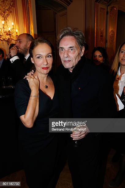Laurence Haim and Singer Yves Simon at Laurence Haim Is Honoured With The Insignes De Chevalier De La Legion D'Honneur at Salons FranceAmeriques on...