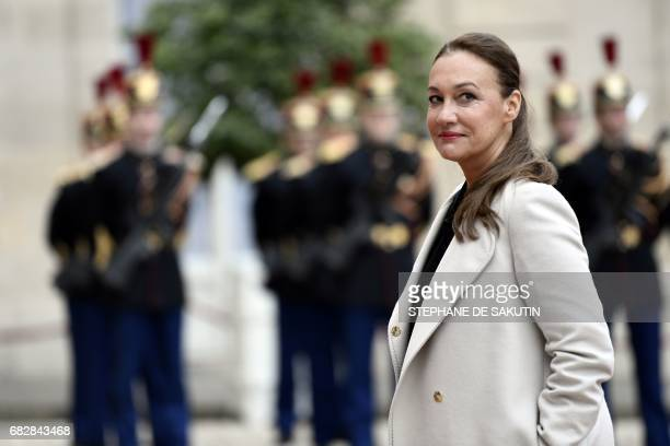 Laurence Haim spokesperson of French Presidentelect Emmanuel Macron arrives at the Elysee presidential Palace to attend Emmanuel Macron's formal...