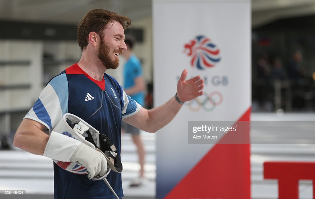 Laurence Halsted during the announcement of Fencing Athletes Named in Team GB for the Rio 2016 Olympic Games at British Fencing's Elite Training Centre on May 5, 2016 in London, England.