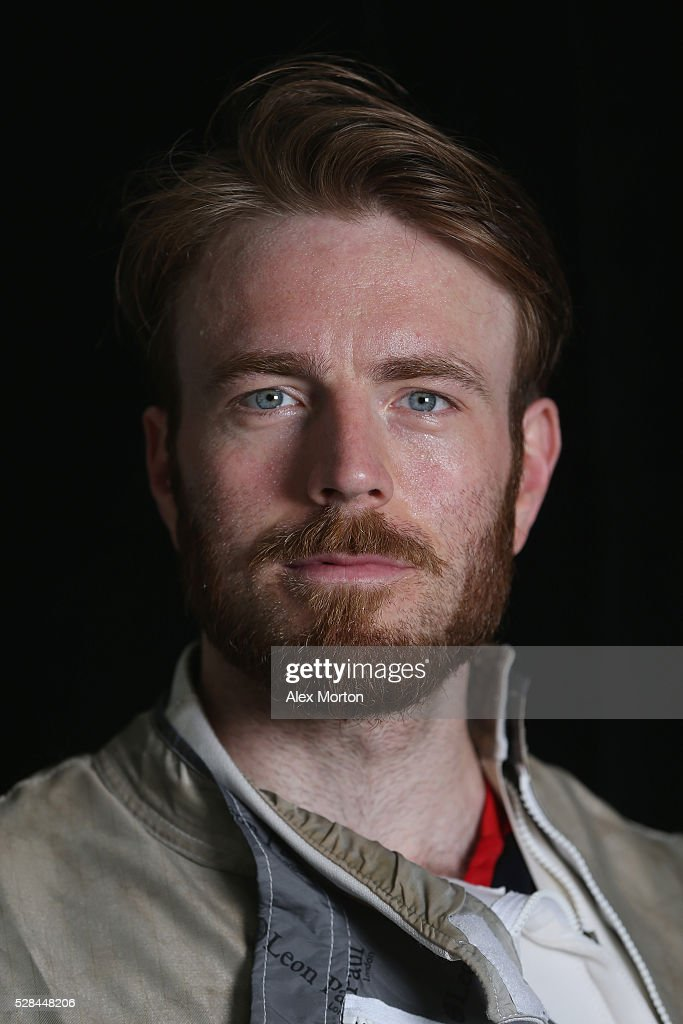 Laurence Halsted poses for a portrait during the announcement of Fencing Athletes Named in Team GB for the Rio 2016 Olympic Games at British Fencing's Elite Training Centre on May 5, 2016 in London, England.