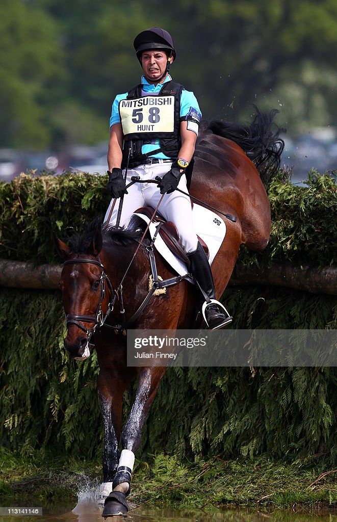 Laurence Hunt riding Phoebus competes in the cross country stage during day three of the Badminton Horse Trials on April 24, 2011 in Badminton, Gloucestershire.