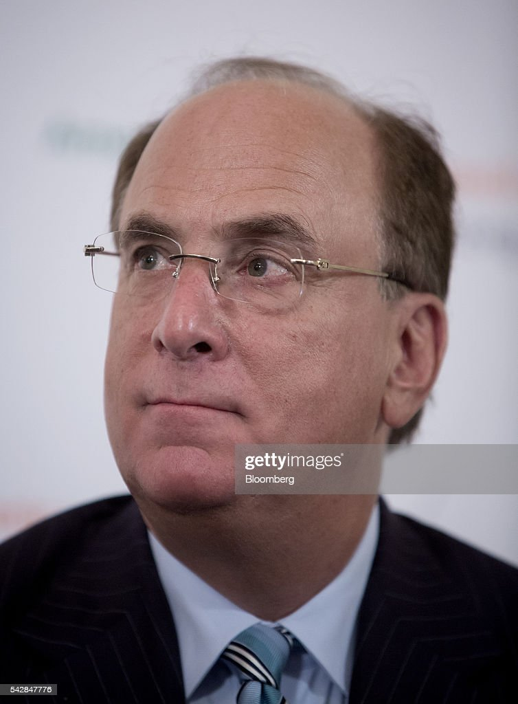 Laurence 'Larry' Fink, chairman and chief executive officer of BlackRock Inc., listens during the Argentina Investment Conference in New York, U.S., on Friday, June 24, 2016. The Argentina Investment Conference 2016 brought together senior policy makers, investors, and international and national business leaders for an insightful discussion on foreign investment in Argentina. Photographer: Eric Thayer/Bloomberg via Getty Images