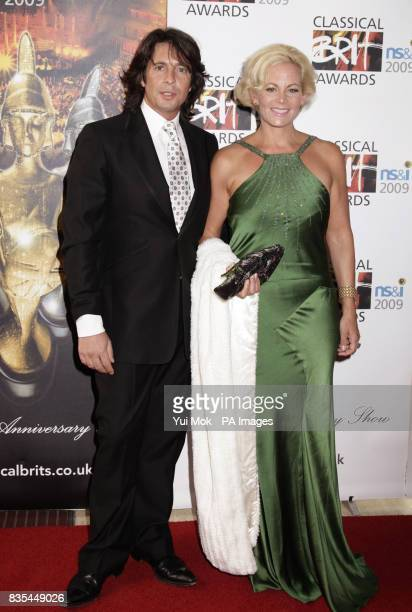 Laurence LlewelynBowen and his wife Jackie arriving for the Classical Brit Awards at the Royal Albert Hall in west London