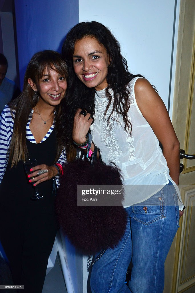 Laurence Ounini and Laurence Roustandjee attend the 'Paris By Night' Bob Sinclar CD Launch Concert Party At La Gaite Lyrique on April 2, 2013 in Paris, France.