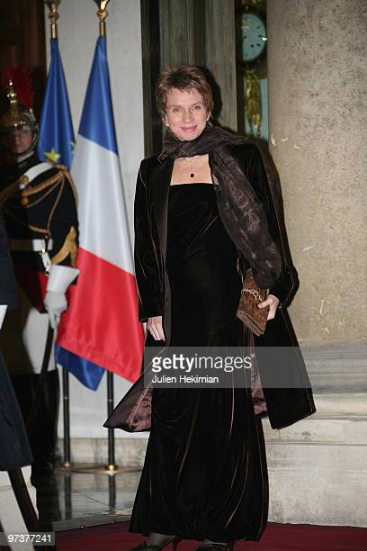 Laurence Parisot arrives to attend a state dinner at Elysee Palace on March 2 2010 in Paris France