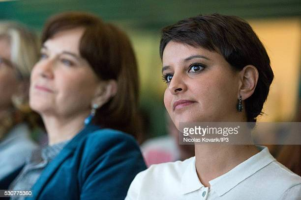 Laurence Rossignol French Minister for Families Children and Women's Rights and Najat VallaudBelkacem French Minister of National Education Higher...