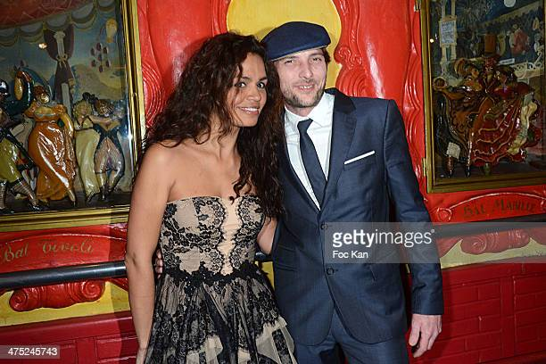 Laurence Roustandjee and a guest attend the Christophe Guillarme show as part of the Paris Fashion Week Womenswear Fall/Winter 20142015 on February...
