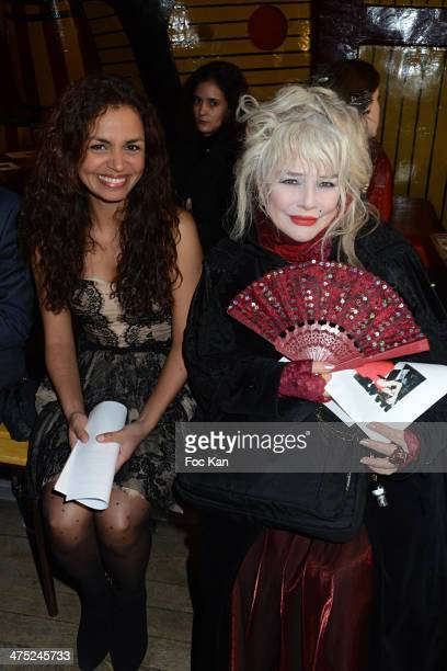 Laurence Roustandjee and Armande Altai attend the Christophe Guillarme show as part of the Paris Fashion Week Womenswear Fall/Winter 20142015 at...