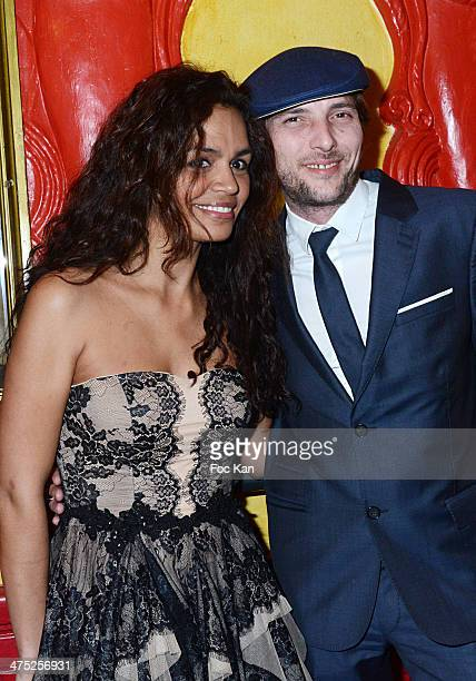 Laurence Roustandjee and Gregory Ferrie attend the Christophe Guillarme show as part of the Paris Fashion Week Womenswear Fall/Winter 20142015 on...