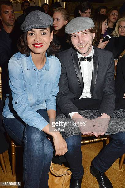 Laurence Roustandjee and Gregory Ferrie attend the Legends of Monaco show as part of Paris Fashion Week Haute Couture Spring/Summer 2015 on January...