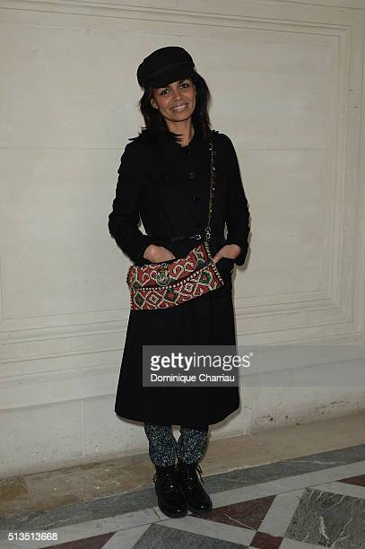 Laurence Roustandjee attends the Alexis Mabille show as part of the Paris Fashion Week Womenswear Fall/Winter 2016/2017 on March 3 2016 in Paris...