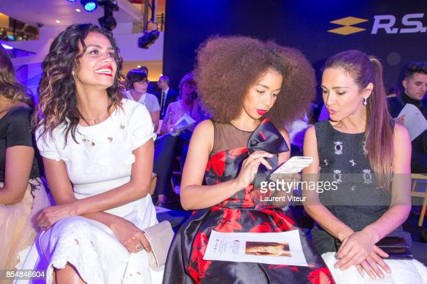 Laurence Roustandjee Aurelie Konate and Emmanuelle Boidron attend the Christophe Guillarme show as part of the Paris Fashion Week Womenswear...