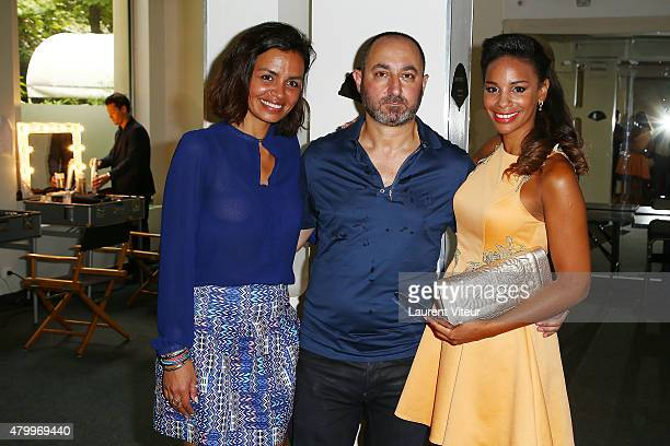 Laurence Roustandjee Designer Dany Atrache and Alicia Fall attend the Danny Atrache show as part of Paris Fashion Week Haute Couture Fall/Winter...