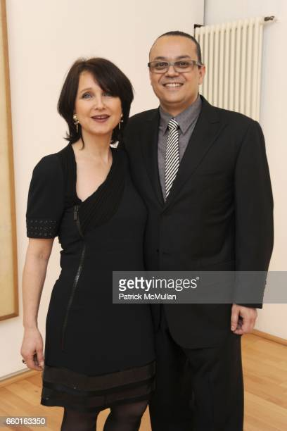 Laurence WrobelB¸rgi and Yves Klein attend GALERIE GMURZYNSKA Celebrates the Opening of YVES KLEIN ROTRAUT Exhibition at Museo d'Arte Lugano on May...