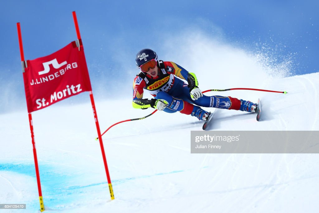 Laurenne Ross of the United States competes during the Women's Super G during the FIS Alpine World Ski Championships on February 7, 2017 in St Moritz, Switzerland.