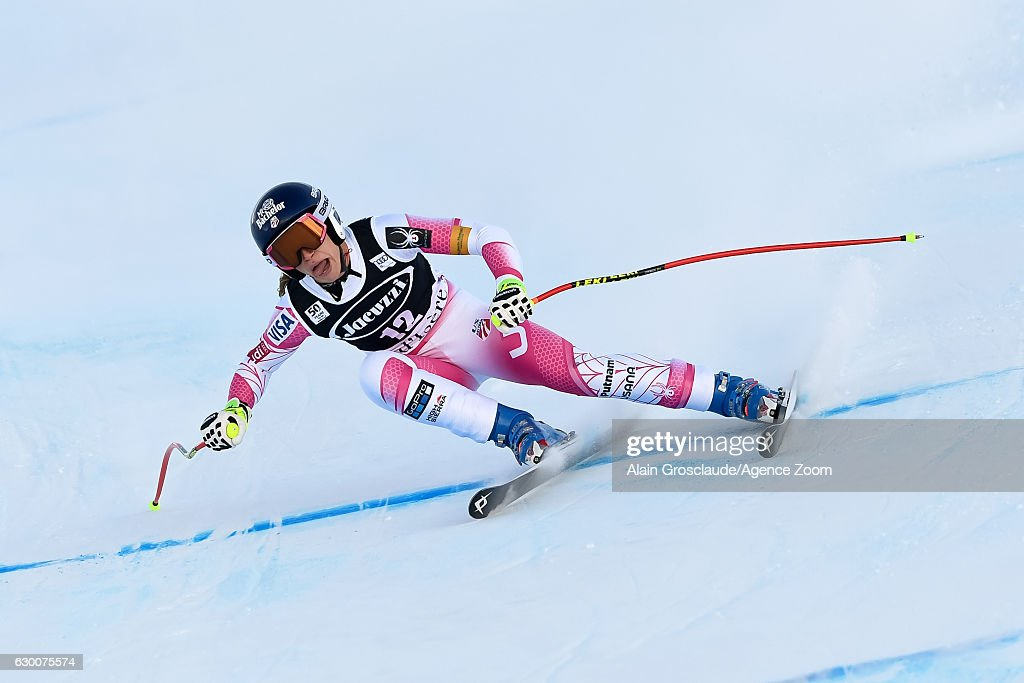 Laurenne Ross of USA competes during the Audi FIS Alpine Ski World Cup Women's Combined on December 16, 2016 in Val-d'sere, France