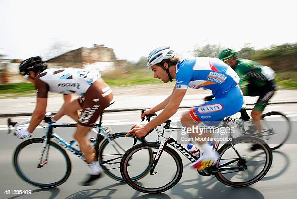 Laurens De Vreese of Belgium competes in the E3 Harelbeke Cycle Race on March 28 2014 in Harelbeke Belgium