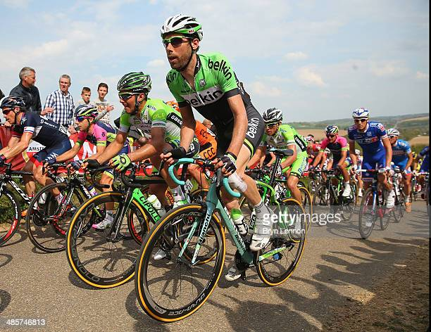 Laurens ten Dam of the Netherlnds and Team Belkin in action during the 49th edition of the Amstel Gold Race on April 20 2014 in Maastricht...