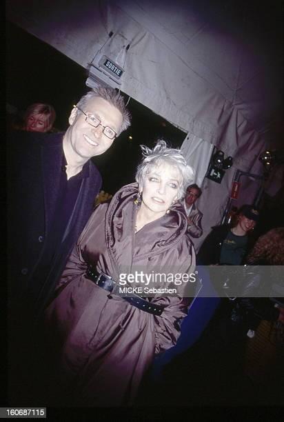 RUQUIER Laurent and Marie Laforet in the general's 'Saltimbanco' show of CIRQUE DU SOLEIL at the Grand Chapiteau de BoulogneBillancourt