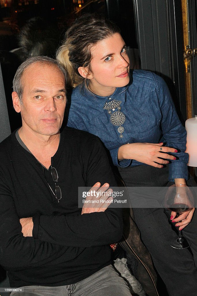 Laurent Baffie (L) and <a gi-track='captionPersonalityLinkClicked' href=/galleries/search?phrase=Cecile+Cassel&family=editorial&specificpeople=765054 ng-click='$event.stopPropagation()'>Cecile Cassel</a> attend 'La Petite Maison De Nicole' Inauguration Cocktail at Hotel Fouquet's Barriere on January 22, 2013 in Paris, France.