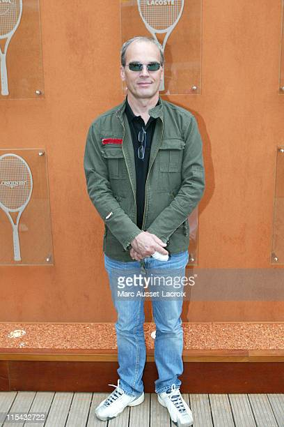 Laurent Baffie poses in the 'Village' the VIP area of the French Open at Roland Garros arena in Paris France on June 3 2007