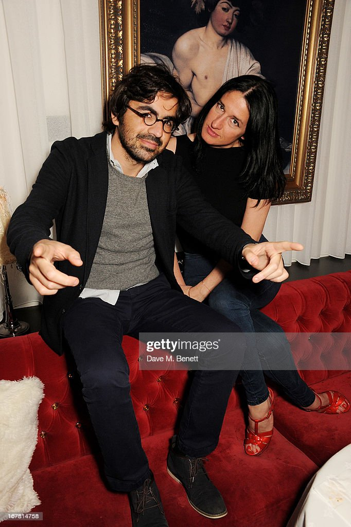 Laurent Benhamou (L) and <a gi-track='captionPersonalityLinkClicked' href=/galleries/search?phrase=Amy+Molyneaux&family=editorial&specificpeople=4464848 ng-click='$event.stopPropagation()'>Amy Molyneaux</a> attend the launch of Baroque's new cabaret show at the Mayfair nightspot Baroque, at Playboy Club London on April 30, 2013 in London, England.