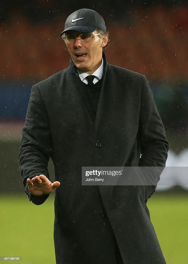 <a gi-track='captionPersonalityLinkClicked' href=/galleries/search?phrase=Laurent+Blanc&family=editorial&specificpeople=211209 ng-click='$event.stopPropagation()'>Laurent Blanc</a>, coach of PSG looks on during the Ligue 1 match between Paris Saint-Germain FC and FC Girondins de Bordeaux at the Parc des Princes stadium on January 31, 2014 in Paris, France.