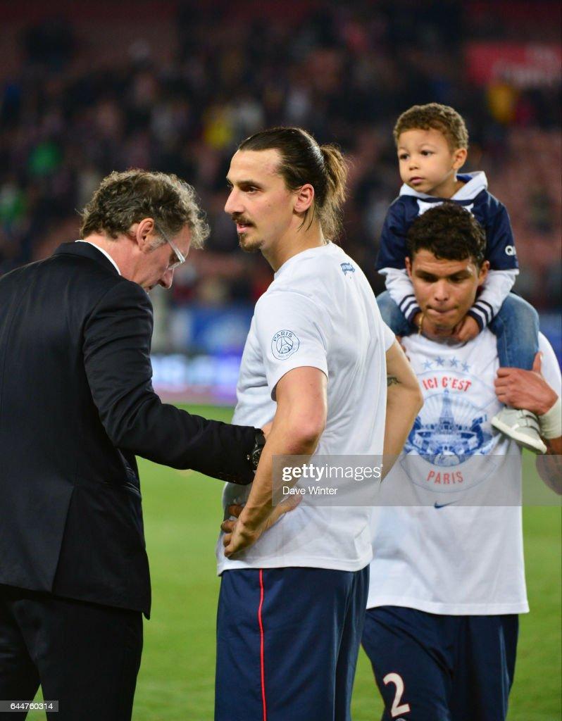 Laurent Blanc Zlatan Ibrahimovic Thiago Silva