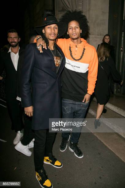 Laurent Bourgeois and Larry Nicolas Bourgeois attend the 'L'Oreal Paris X Balmain' party on September 28 2017 in Paris France