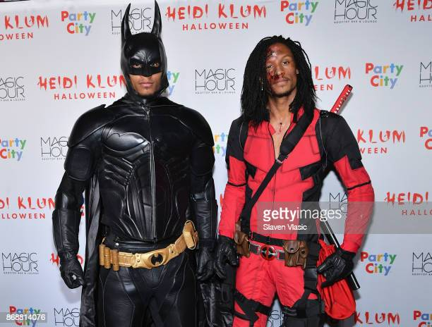 Laurent Bourgeois and Larry Nicolas Bourgeois of Les Twins attend Heidi Klum's 18th annual Halloween Party presented by Party City at the Magic Hour...
