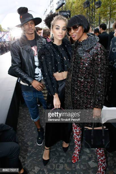 Laurent Bourgeois Jasmine Sanders and Naomi Campbell attend 'Le Defile L'Oreal Paris show' as part of the Paris Fashion Week Womenswear Spring/Summer...