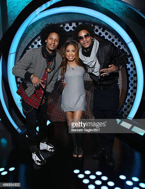 Laurent Bourgeois Keshia Chante and Larry Bourgeois attend 106 Park at BET studio on September 29 2014 in New York City