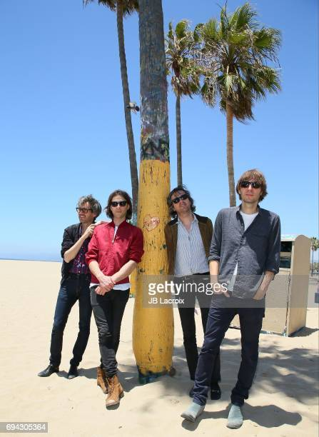 Laurent Brancowitz Deck D'arcy Christian Mazzalai and Thomas Mars of Phoenix celebrate the release of their new album 'Ti Amo' on June 09 2017 in...