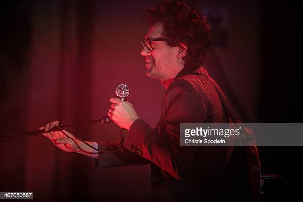 Laurent Brancowitz of Phoenix performs on stage at the NME Awards Show at Brixton Academy on February 5 2014 in London United Kingdom