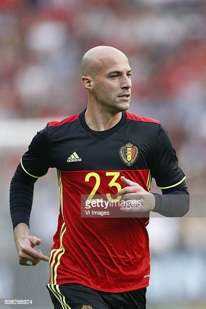 Laurent Ciman of Belgium during the International friendly match between Belgium and Finland on June 5 2016 at the Koning Boudewijn stadium in...