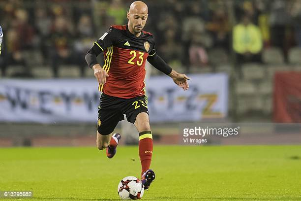 Laurent Ciman of Belgiumduring the FIFA World Cup 2018 qualifying match between Belgium and Bosnie Herzegowina on October 07 2016 at the Koning...