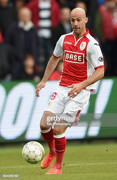 Laurent Ciman of Liege in action during the Belgium Jupilar League match between Standard de Liege and Westerlo at Stade Maurice Dufrasne on August...