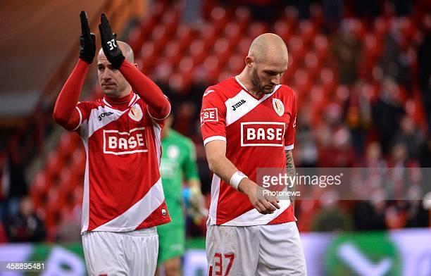 Laurent Ciman of Standard Liege Jelle Van Damme of Standard Liege during the Jupiler League match between Standard Liege and RSC Anderlecht on...