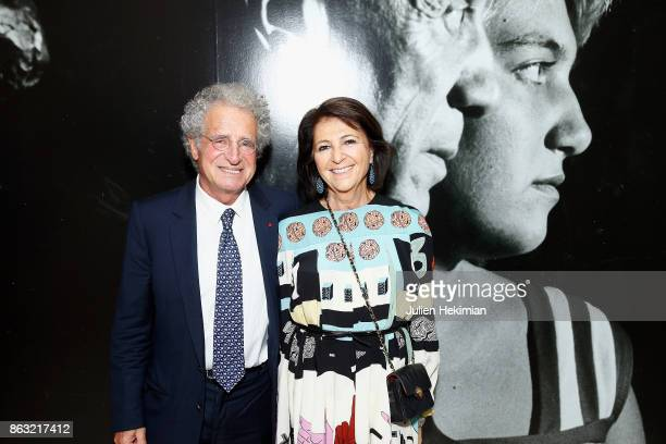 Laurent Dassault and his wife attend 'Picasso and Maya Father and Daughter' Exhibition Curated By Diana Widmaier Picasso at Gagosian Paris on October...