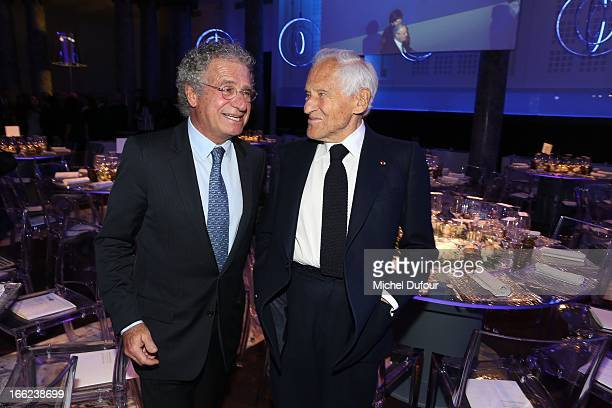 Laurent Dassault and Jean D'Ormesson attend the 'Scopus Awards' 2013 at Espace Cambon Capucines on April 10 2013 in Paris France