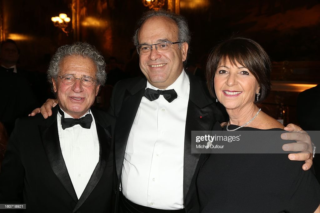 Laurent Dassault, David Khayat and Martine Dassault attend the David Khayat Association 'AVEC' Gala Dinner at Chateau de Versailles on February 4, 2013 in Versailles, France.