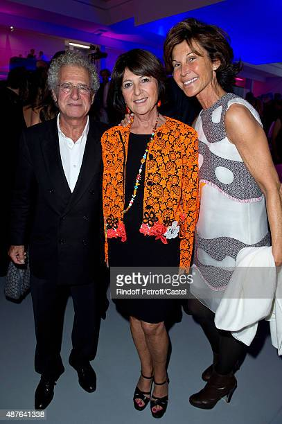 Laurent Dassault his wife Martine Dassault and Sylvie Rousseau attend the Auction Dinner to Benefit 'Institiut Imagine' on September 10 2015 in Paris...