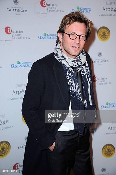 Laurent Delahousse attends the 'Autistes Sans Frontiere' Charity Gala at Artcurial Dassault on April 16 2015 in Paris France