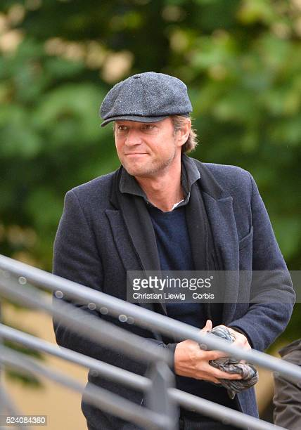 Laurent Delahousse attends the funeral of French journalist of France 2 Benoit Duquesne at the Church Jeanne d'Arc in Versailles