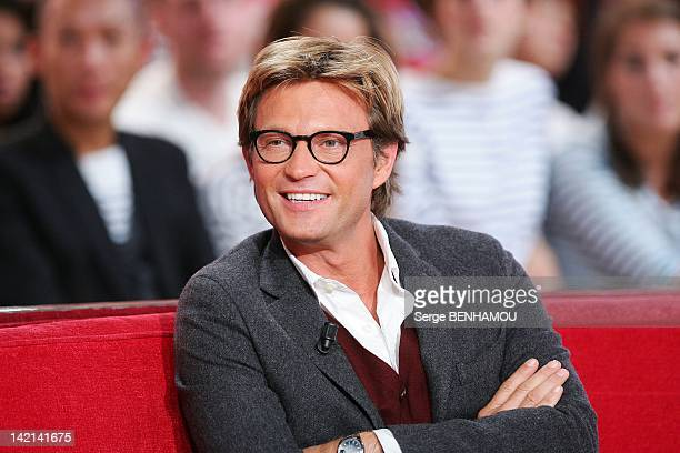 Laurent Delahousse attends Vivement Dimanche Tv show on September 21 2011 in Paris France